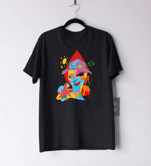 Abstract Lady In Hat T Shirt