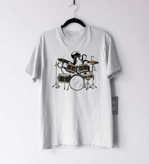 Octopus Playing Drums T Shirt