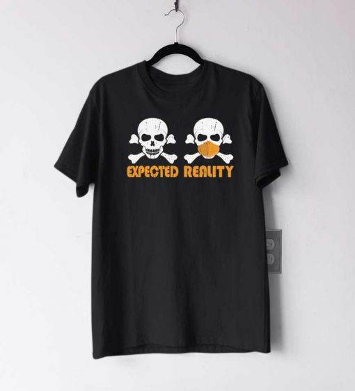 skull with mask quarantine halloween T Shirt